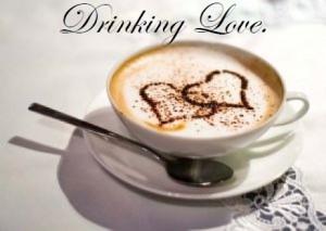 drinking love image
